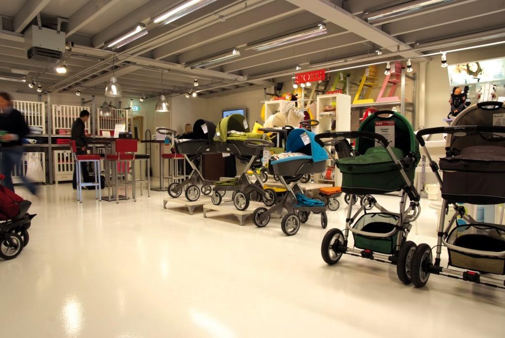 Gietvloeren in winkel